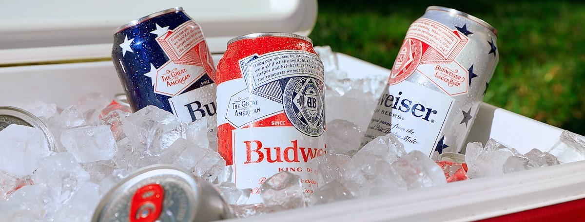 Budweiser Summer 2021 Patriotic Cans