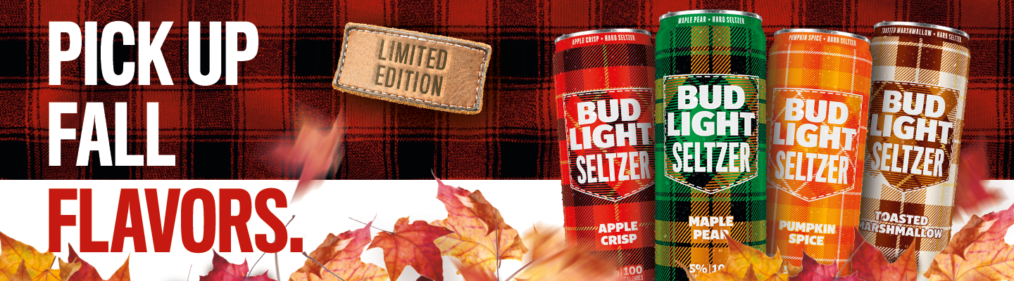 Bud Light Seltzer limited edition pick up fall flavors